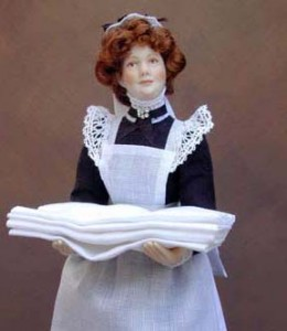 "To give you an idea of 1:12 scale she is 5 1/4"" tall..."