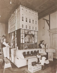 Queen Mary's Dolls' House being packed up for Windsor...