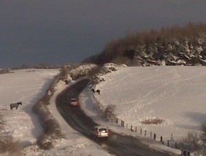 The roads were still fairly clear on Sunday...
