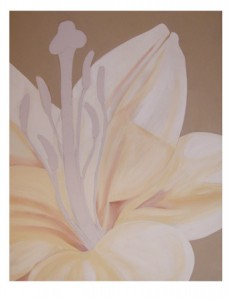 "Work in Progress... Lily… Acrylics on Canvas (24×30"")"